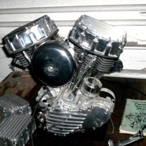 1951 Panhead engine