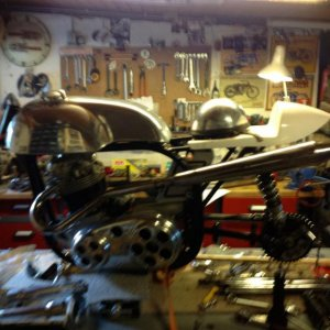 Early pic.of my racer norton.almost finishen now.pics later