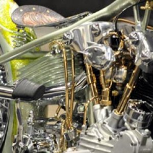 Another shot of the Lady Luck chopper from LA Speed Shop