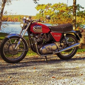 1969 750 Commando on Rocky Lake Rd. fall 2009