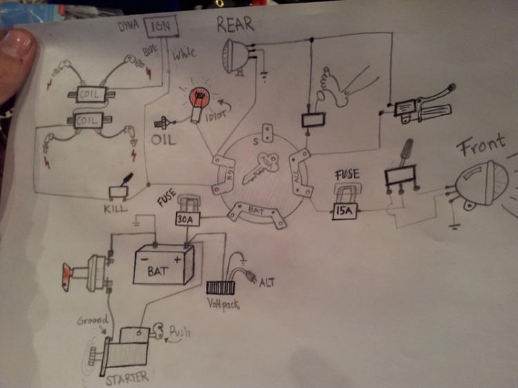 simple ironhead wiring diagram my 79 shovelhead project  my 79 shovelhead project